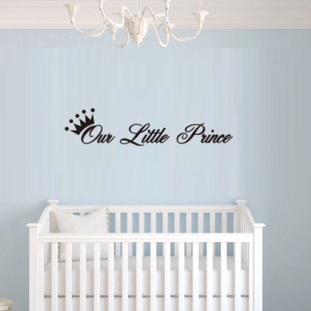 """Decowall """" Our Little Prince"""" wall sticker"""