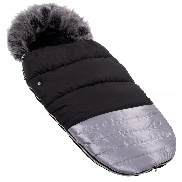 "Footmuff ""SPRINGOS"" BLACK&SILVER"