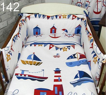 Cot Bedding Set- Sea