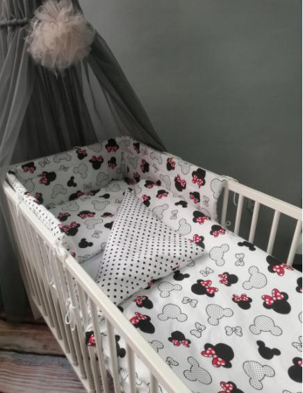 Cot Bedding Set- Minie Mouse