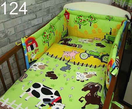 3 Pcs Cot Bedding Set-Farm