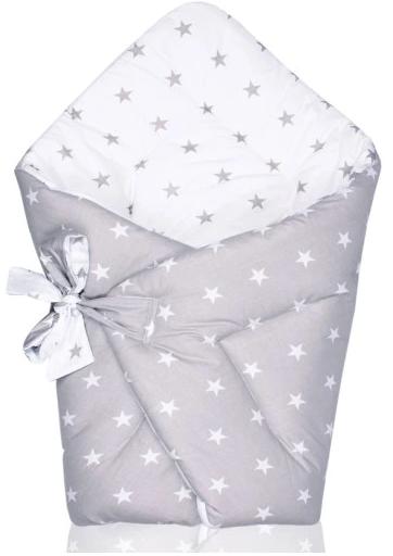 swaddle/wrap - grey stars