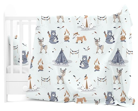 """ INDIAN CAMP"" Cot bedding set"