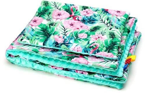 SNUGGLE MINKY BEDDING SET Sewn in filling – FLAMINGOS&MINT MINKY