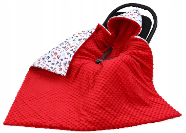 Large Hooded Winter Car Seat Blanket RED&SEA