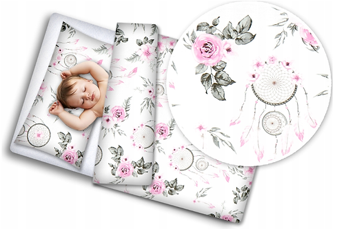 3 pcs Cot Bedding Set - Dreamcatcher
