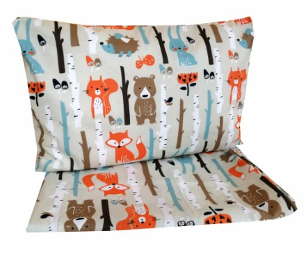 """""""COLORFUL FOREST"""" - Cot bedding set"""