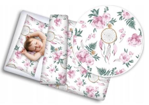 Cot Bedding Set- Dreamcatcher & Flowers