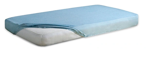 Jersey Cotton Fitted Sheet Cot Bed - BLUE