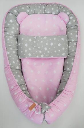 Cute Nest Set - PINK STARS&GRAY STARS