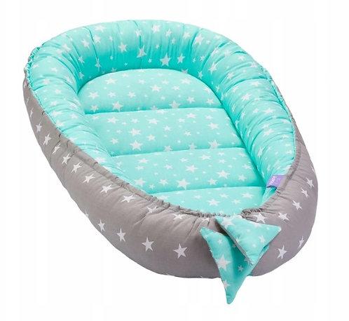 JUKKI MINT STARS - Baby Nest