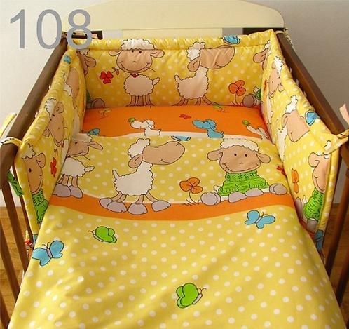 3 Pcs Cot Bedding Set- Sheep Yellow Edition