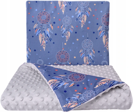 SNUGGLE MINKY BEDDING SET –DREAMCATCHERS&GRAY
