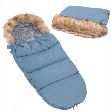 "Footmuff ""SPRINGOS""with handmuff BLUE"