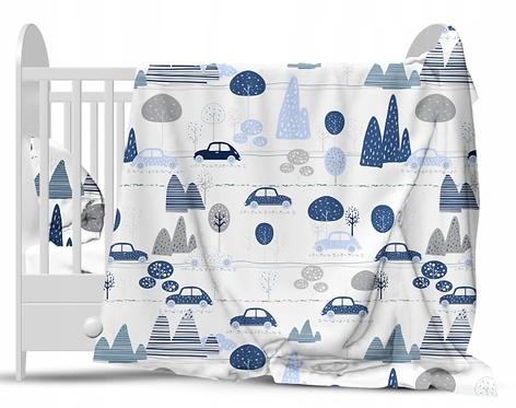 """BLUE CARS"" Cot bedding set"