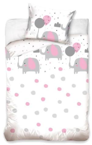 """""""PINK ELEFANTS"""" Toddler Bedding set"""