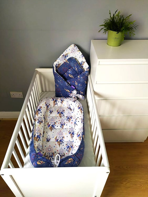 JUKKI NEST AND SWADDLE SET - navy dreamcatcher