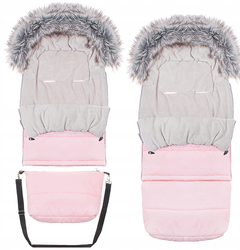 "Footmuff ""SPRINGOS"" with bag -PINK"