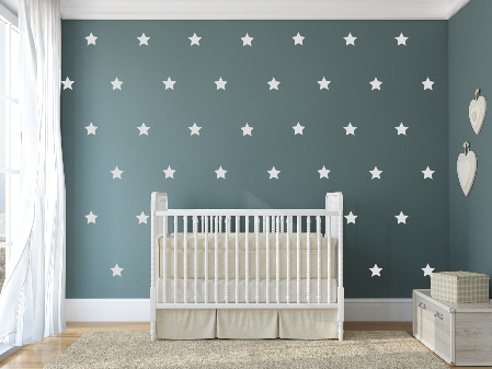 "Decowall "" white stars"" wall stickers"