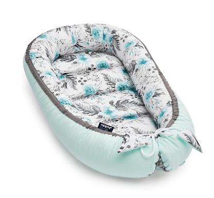 JUKKI MINT FLOWERS - Baby Nest