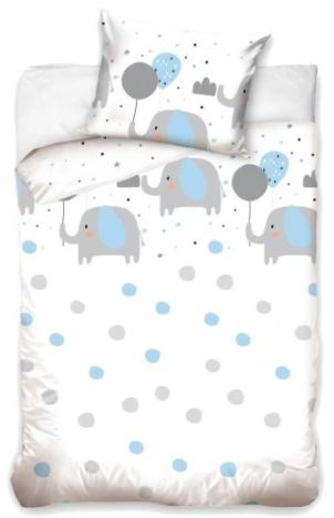 """""""BLUE ELEFANTS"""" Toddler Bedding set"""