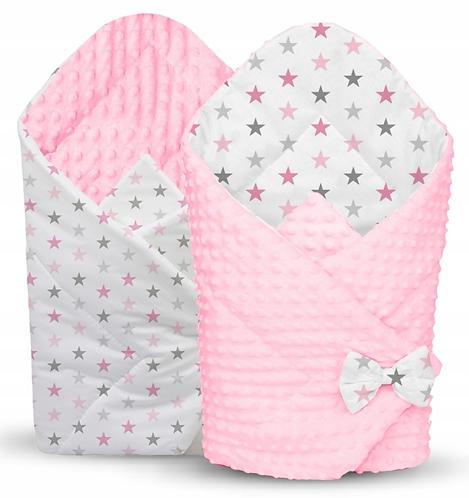 swaddle/wrap - pink&stars