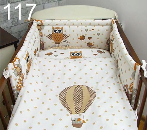 3 Pcs Cot Bedding Set-Owls Brown Edition