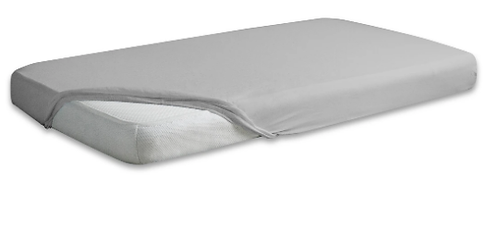 Jersey Cotton Fitted Sheet Cot Bed- GRAY