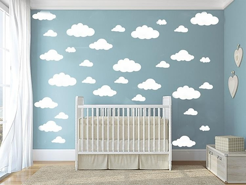 "Decowall "" clouds"" wall stickers"