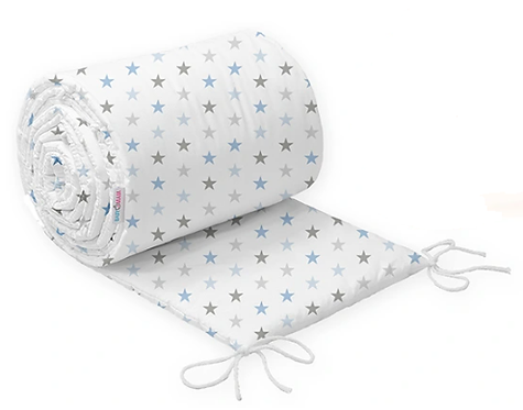 COT BUMPER PROTECTION - BLUE STARS