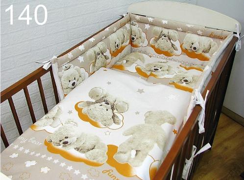 3 Pcs Cot Bedding Set- Bears Mustard Edition