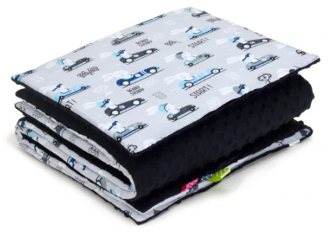 SNUGGLE MINKY BEDDING SET Sewn in filling – CARS&BLACK MINKY