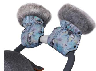 QUALI HAND MUFFS - pastel tucans
