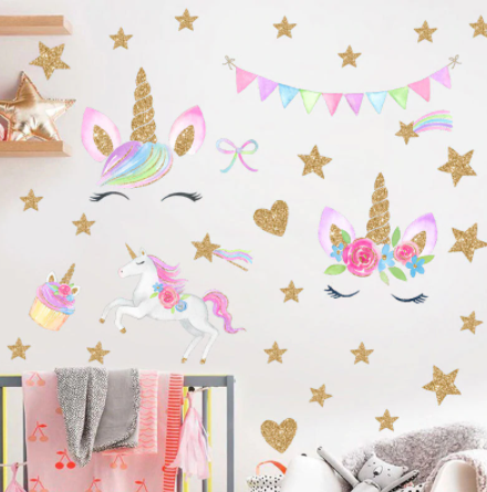 "Decowall "" Unicorns "" wall sticker"