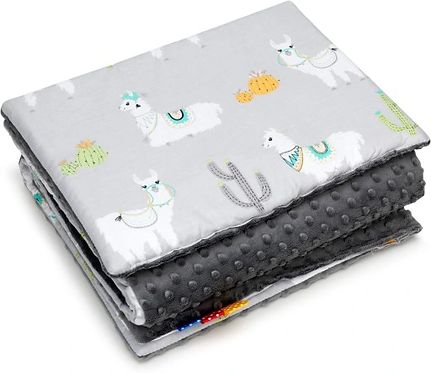 SNUGGLE MINKY BEDDING SET Sewn in filling – GREY LAMA&GREY MINKY