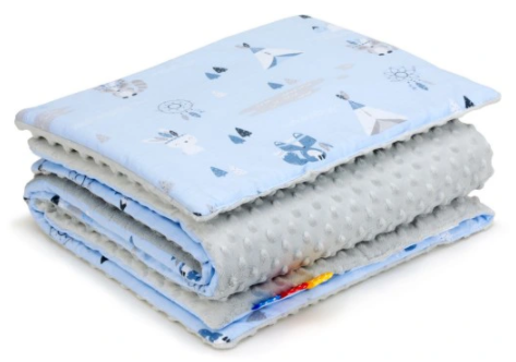 SNUGGLE MINKY BEDDING SET Sewn in filling – INDIAN&GREY
