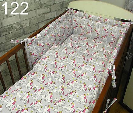 3 Pcs Cot Bedding Set-Unicorns