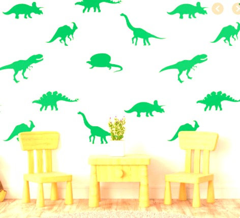 """Decowall """" Neon green dinosaurs"""" wall stickers"""