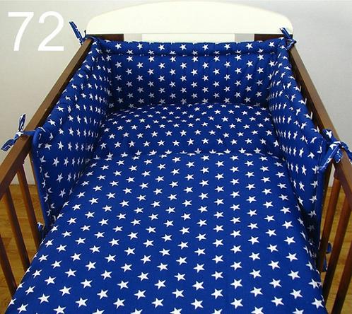 3 Pcs Cot Bedding Set- Navy&White Stars
