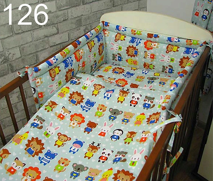 3 Pcs Cot Bedding Set- Animals