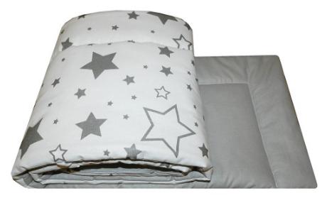 COT BUMPER PROTECTION -GREY BIG STARS