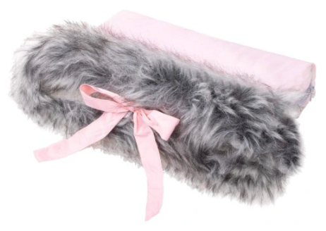 SPRINGOS HAND MUFF with bow  - pink