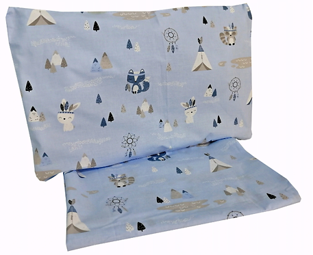 """ BLUE FOX"" - Cot bedding set"