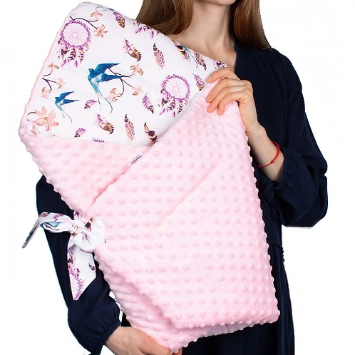 swaddle/wrap -swallows&pink pinky
