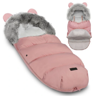 TEDDY BEAR footmuff - PASTEL PINK