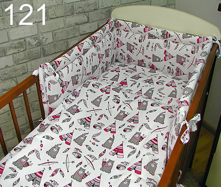 3 Pcs Cot Bedding Set- Indian Camp