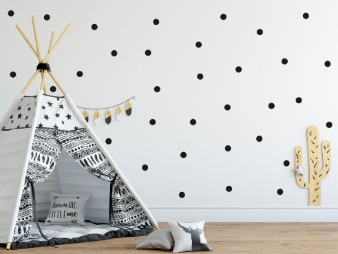 Decowall - wall stickers - black dots