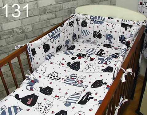 3 Pcs Cot Bedding Set-Cats