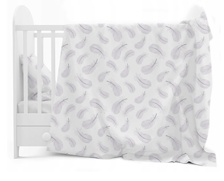 """FEATHERS"" Cot bedding set"