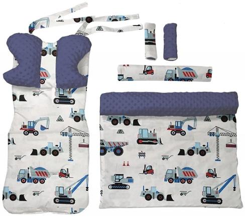 Navy minky & cars 6 pcs linner set